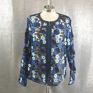 Bagatelle floral lace flower embroidered  jacket